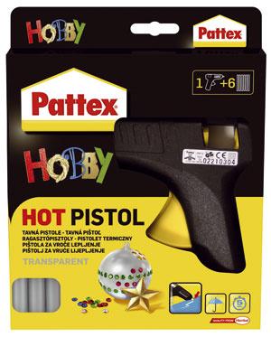 Náš tip – tavná pištoľ Tavná pištoľ Pattex má široké uplatnenie pri rôznych druhoch lepenia vdomácnosti, pri opravách, ale aj pri aranžovaní suchých kvetov aplodov. Pištoľ zapojíte do elektrickej siete anecháte asi 10minút nahriať. Velektrickej pištoli sa tuhá patróna roztaví, následne stlačením kohútika dávkujete lepidlo na lepené plochy. Účinok je okamžitý, lepidlo vytvrdne do 2 minút. Po odpojení tavnej pištole zelektriny lepidlo opäť stuhne amôže sa kedykoľvek použiť znova. Cena: 13,50 €