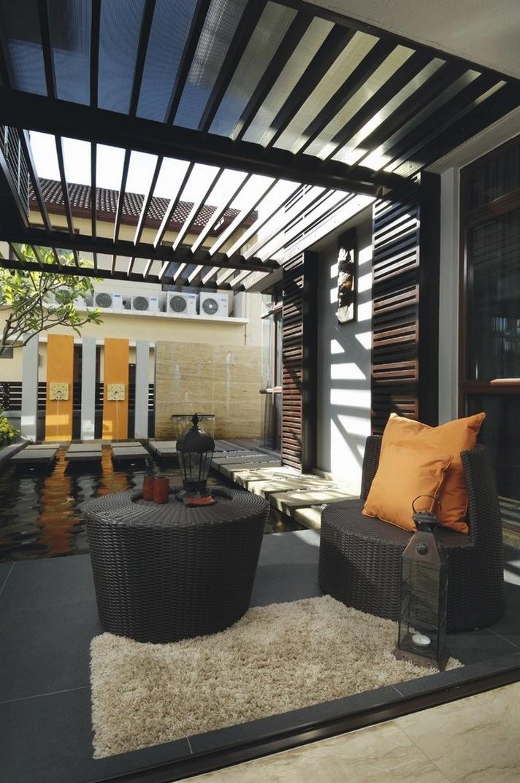 tropický dom s interiérovými jazierkami