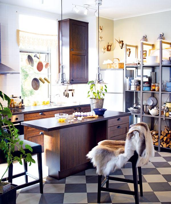 Kuchyňa Faktum/Rockhammar shnedými dvierkami, 1 169 €, IKEA (bez drezu, batérie aspotrebičov)