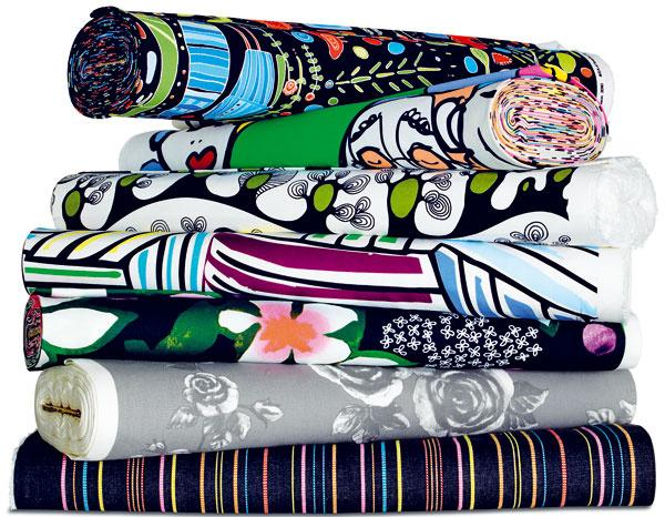Látky na závesy, návlečky alebo obrusy, rôzne vzory, IKEA