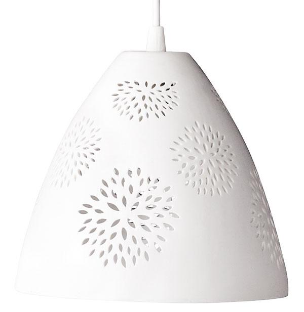 Keramická závesná lampa Pattern, 53,71 €, www.bellarose.sk