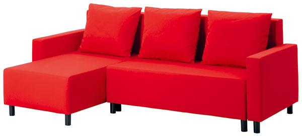 Lugnvik, rozkladacia pohovka sležadlom aúložným priestorom, poťah Granån, 223 × 83/120 × 200 cm, 299 €, IKEA