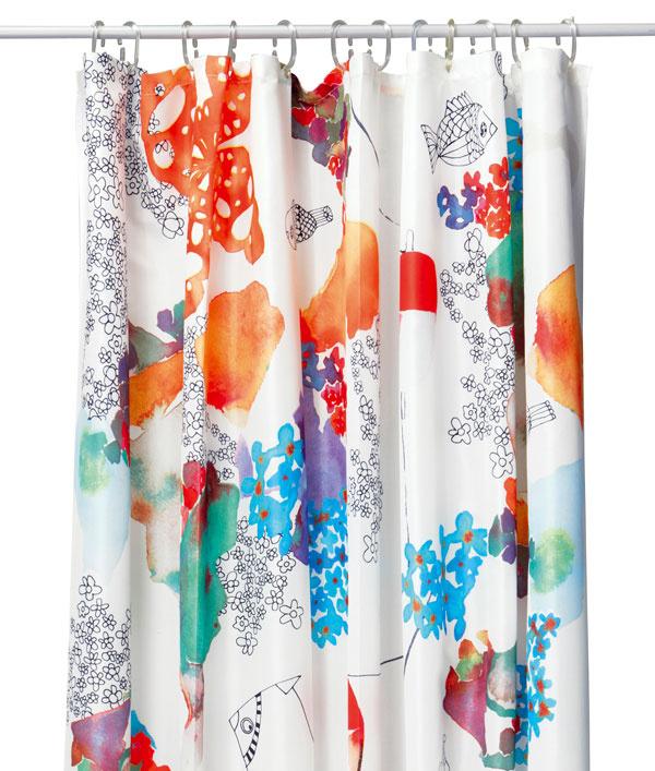 Tallholmen, sprchovací záves, 100 % polyester, 200 × 180 cm, 12,99 €, IKEA