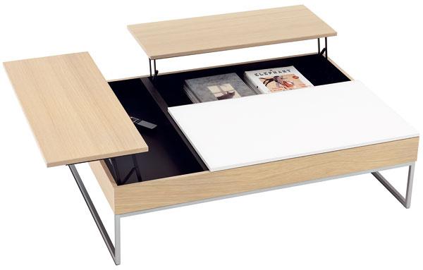 Occa-AD02, rozkladací konferenčný stolík, súložným priestorom, dubová dyha, brúsená oceľ, 32,5/44,5 × 113,5/135 × 80/101,5 cm, 729 €, BoConcept, Light Park