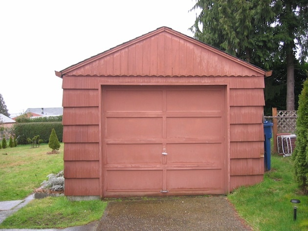 Pôvodný stav garáže