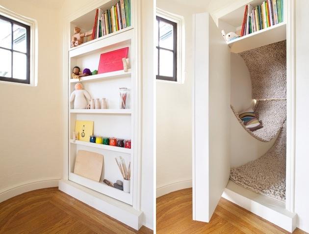 Kútik na čítanie či odpočinok. Ale prečo ho vlastne ukrývať?