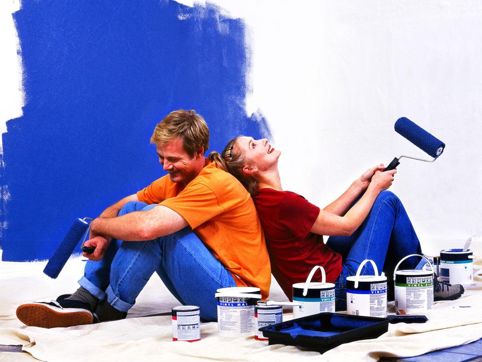 Jednoduché tipy ako urobiť z maľovania bytu zábavu