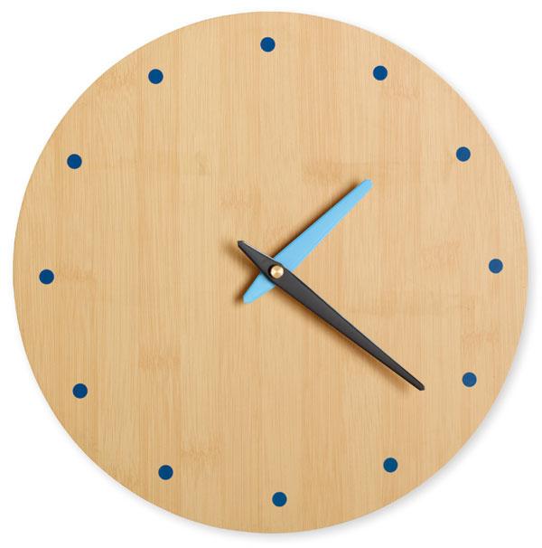 Nástenné hodiny Dot, drevo, modrá farba, priemer 28 cm, 39 €, BoConcept, Light Park