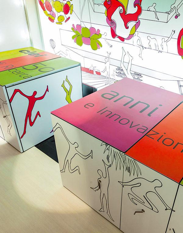 Pri príležitosti 50. výročia založenia firmy Clei vytvoril architekt Angelo Roventa zaujímavé bývanie zložené vskrini, ako oslavu dokonalosti systémov, ktoré sú hlavnou činnosťou firmy. Vyrábajú skladací, vyklápací, posuvný aináč miesto šetriaci nábytok, s dokonale premyslenými spôsobmi transformácie.