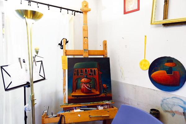 Vlastný ateliér je pre každého umelca stiesneným miestom, ktoré však ponúka najviac voľnosti.
