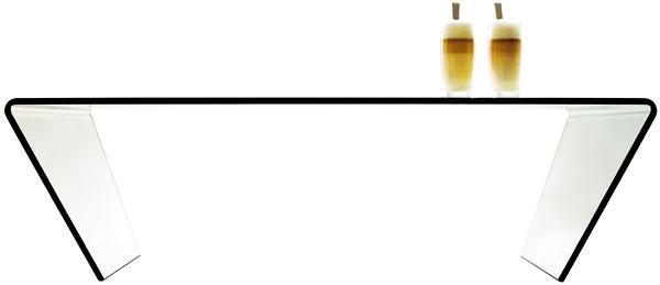 Konferenčný stolík, číre sklo, 35 × 120 × 70 cm, 359 €, Bo Concept