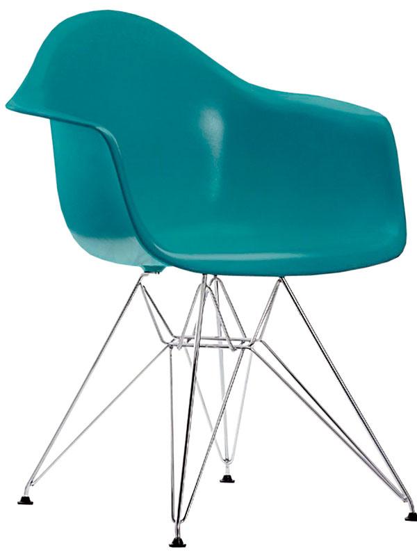 Kresielko DAR, dizajn Charles & Ray Eames, Vitra, chrómový alebo farebný kov na výber celočalúnená verzia, 334,80 €, Konsepti