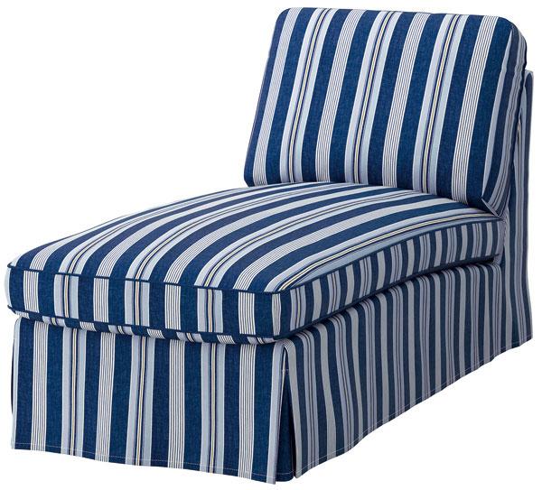 Ležadlo Ektorp spoťahom Åbyn, 100 % bavlna, drevovláknitá doska, masívna borovica, 163 × 72 × 88 cm, 299 €, IKEA