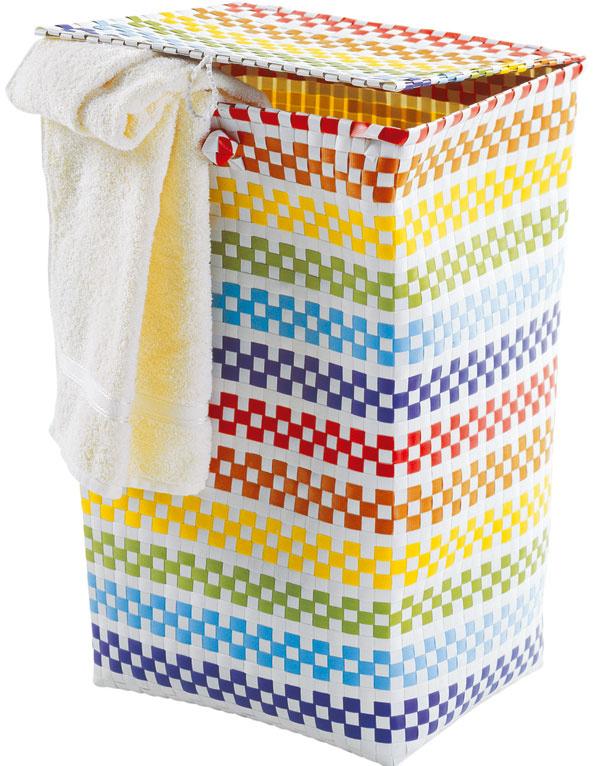 Kôš na bielizeň svrchnákom, farebný plast, 30 × 40 × 60 cm, 15,99 €, kika