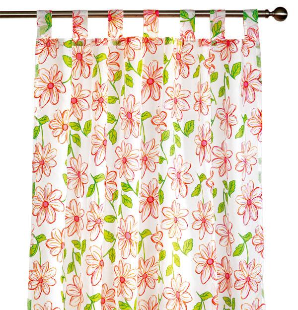 Hotová záclona Celina, 100 % polyester spotlačou kvetov, 140 × 245 cm, 18,99 €, kika