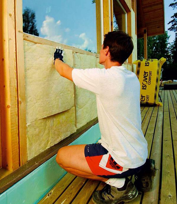 Realizácia zateplenia fasády drevodomu