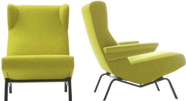 Ušiak Archi, dizajn Pierre Paulin, nadčasový dizajn, pohodlné línie kopírujúce telo, oceľový rám, penové sedadlo, textil, gumové ložiská, 2 552 €, Ligne Roset