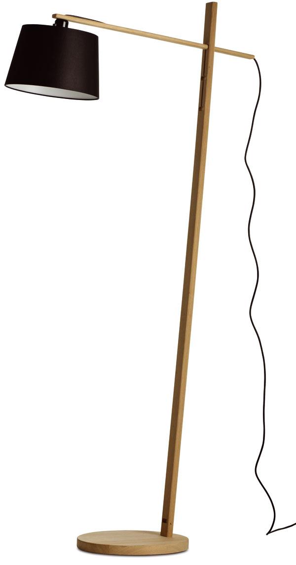 Podlahová lampa Woody, dub stextilným tienidlom, 147 × 25 cm, 249 €, BoConcept, LightPark