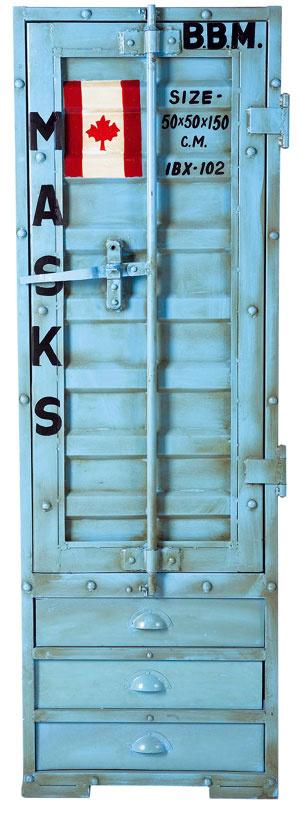 Flag light blue, skrinka, morský kontajner so šarmom svetobežníka, kov, 154 × 51,5 × 51 cm, 799,90 €, Kare, Light Park
