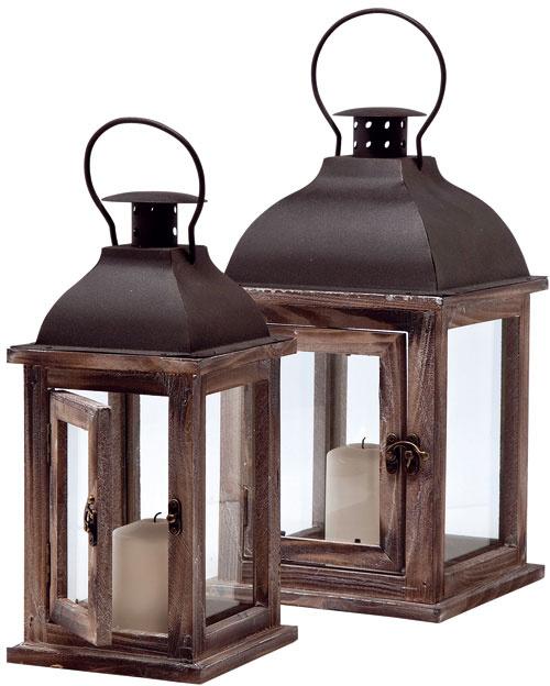 Sea Breeze (Morský vánok), lampáše, lakované borovicové drevo, sklo, pozinkovaný kov, 54,5 × 22 × 22 cm, 84,90 €, Kare, Light Park