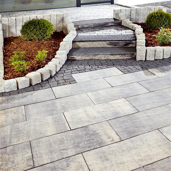 Premac Longara betónové platne spovrchom zušľachtilej drviny, bridlicovo štruktúrovaný povrch, 60 × 30 × 5 cm, 28,80 €/m2