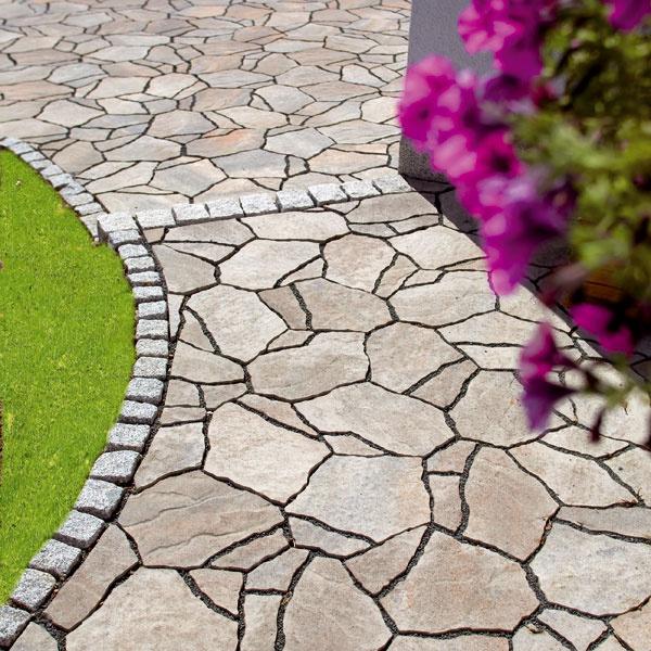 Premac Poligono, kombinácia prirodzeného vzhľadu a technických výhod betónu, asi 36 × 26 cm, hrúbka 8 cm, 29,63 €/m2