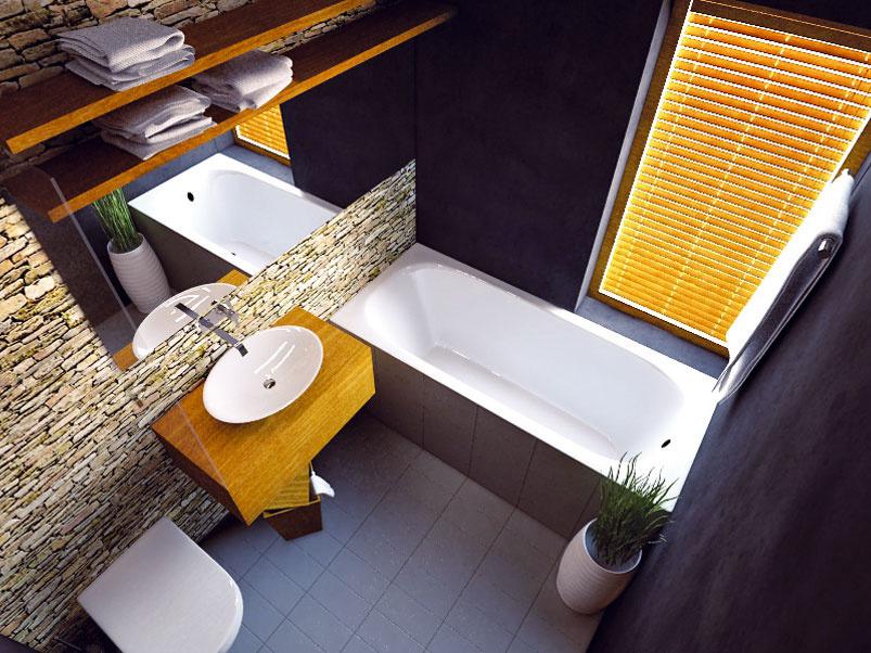 Ako navrhnúť kúpeľňu v dome, kde pôvodne nebola