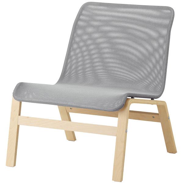 Nolmyra, ľahké kreslo, brezová abuková dyha, oceľ, polyester, 64 × 75 × 75 cm, 29,99 €, IKEA