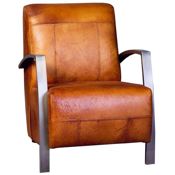 Gunther, elegantné kožené kreslo skovovými nohami, firma Eleonora, na výber dve farby kože, 873 €, Elmina, LightPark
