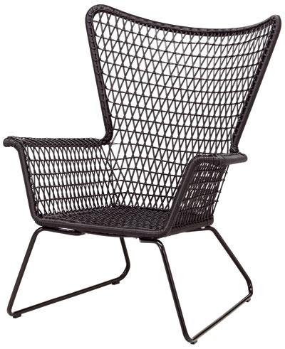 Högsten, kreslo, dizajn Nike Karlsson, rám anoha zocele, sedadlo zpolyetylénového plastu, 74 × 78 × 93 cm, 99,90 €, IKEA