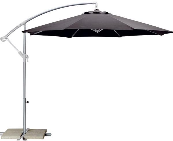 Karlsö, závesný slnečník, tyč, rameno apáka zocele, látka 100 % polyester, priemer 300 cm, výška 260 cm, 64,90 €, IKEA