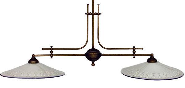 Závesná dvojramenná lampa, porcelán amosadz, šírka 117 cm, 384 €, tintinhal.sk