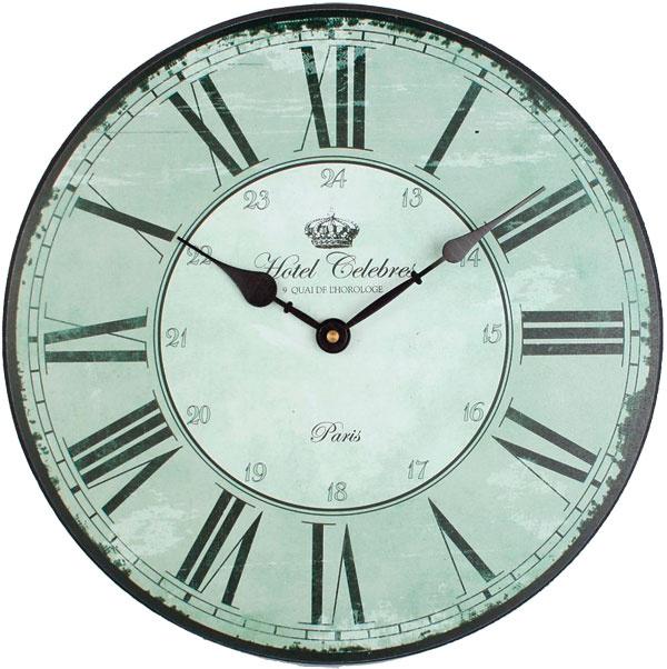 Hotel Celebres, drevené nástenné hodiny od firmy La Finesse, priemer 33 cm, 23,52 €, bellarose.sk