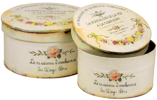 plechové škatule, 12,84 €, www.bellarose.sk