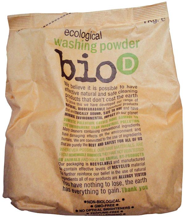 Eko prací prášok BIO, 1 kg, 6,50 €, www.ekomarket.sk