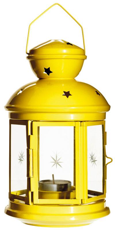 Rotera, lampáš, oceľ asklo, výška 21 cm, vhodný von aj dnu, 2,99 €, IKEA