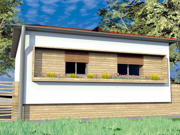 Riešenie #1 Prírodná farba dreva zvýrazňuje vidiecky charakter domu.