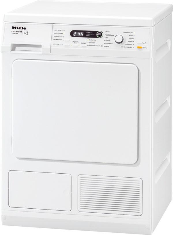Miele T 8861 WP Edition 111, energetická trieda A, kapacita 8 kg, tepelné čerpadlo, senzitívny systém na šetrné aenergeticky úsporné sušenie, odvod kondenzátu, voštinový bubon, 12 programov, 1 039 €