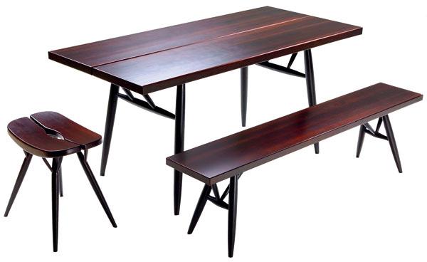 Kolekcia nábytku Pirkka, ktorú navrhol pre Artek Ilmari Tapiovaara už vroku 1955, je stále aktuálna aj podľa trendov tradicionalizmu.