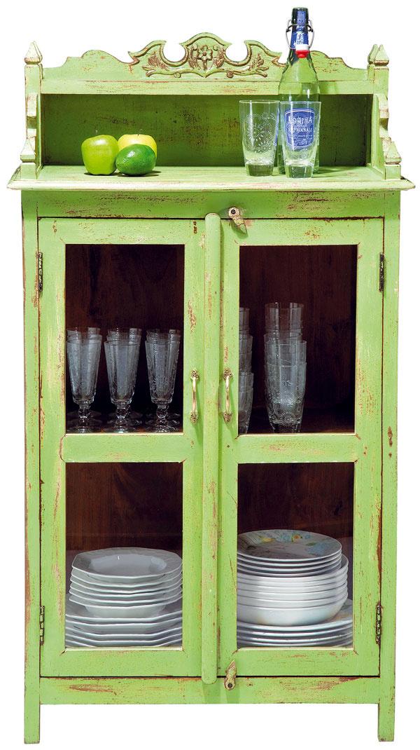 Taberna, vitrína, ručne lakované mangové drevo, sklo, 130 × 74 × 42 cm, 699,90 €, Kare, Light Park