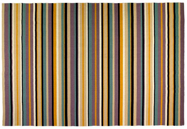Randlev, hladko tkaný koberec, dizajn Paulin Machado, čistá strihaná vlna abavlna, 300 × 200 cm, 249 €, IKEA