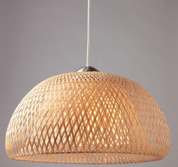 Böja, závesná lampa, bambus, priemer 42?cm, 49,99 €, IKEA