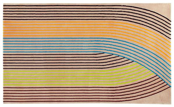 Arcata, koberec znovozélandskej vlny, dizajn Pierre Charpin, 250 × 150 cm, 1 731 €, Ligne Roset