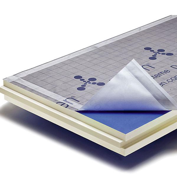 Celoplošná izolácia nad krokvami ISOVER Súčiniteľ tepelnej vodivosti λ sa pri výrobkoch Puren PIR pohybuje od 0,023do0,027W/(m.K). Sú riešením pre zateplenie šikmej strechy s možnosťou priznať krokvy adrevenú konštrukciu strechy.Jednotlivé panely sa spájajú systémom pero adrážka, čo zabezpečuje celoplošnú izoláciu bez škár aprípadných tepelných mostov. Vyrába sa vhrúbkach 80, 100, 120, 140, 160 a 180 mm arozmer platne je 2400×1200mm. Povrchová úprava zinteriéru je polepminerálnym vliesom, zexteriéru polep minerálnym vliesom + difúzne otvorená hydroizolačná fólia.