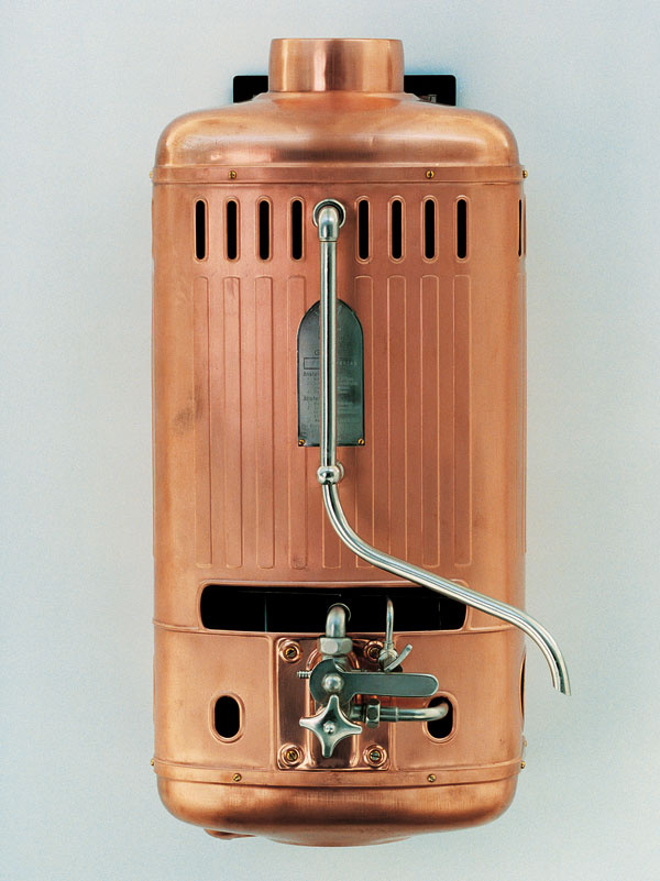 Jeden z prvých závesných plynových  ohrievačov vody Vaillant z roku 1905