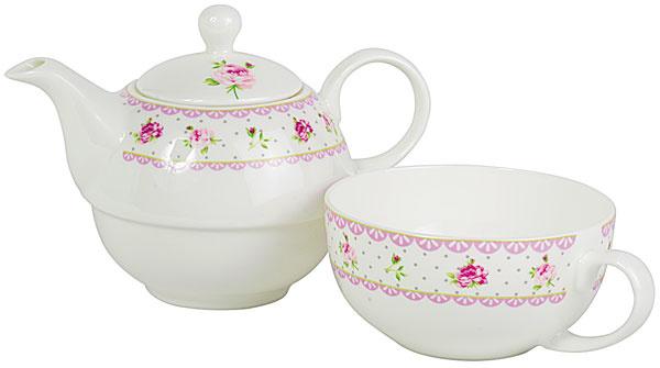 Šálka a čajník Cottage rose, 31,45 €, www.bellarose.sk