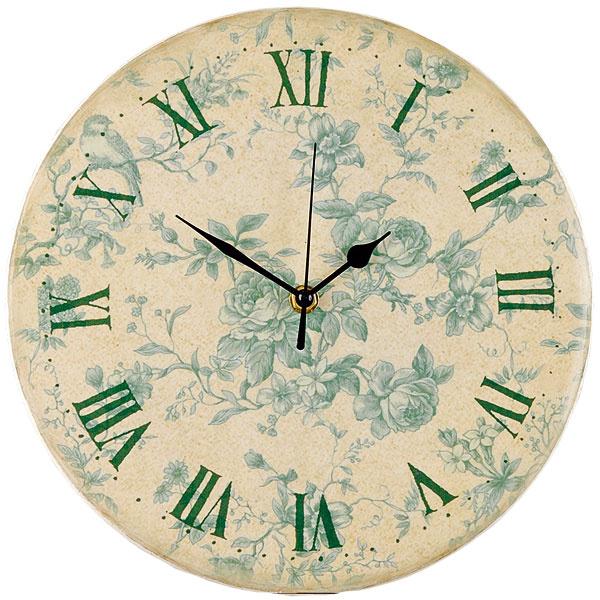 Romantické hodiny s motívom modrej ruže, priemer 27,5 cm, 12,50 €, www.apropos-shop.sk