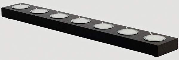 Svietnik HALLARE na sedem čajových sviečok, 4,49 €, IKEA