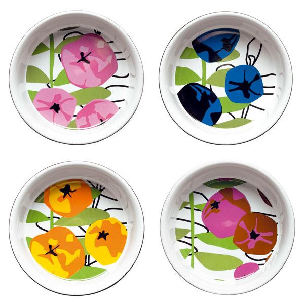 Sagaform Season, zepekacie misky zmaľovanej keramiky, priemer 13 cm, 30 €/4 ks, designea.sk
