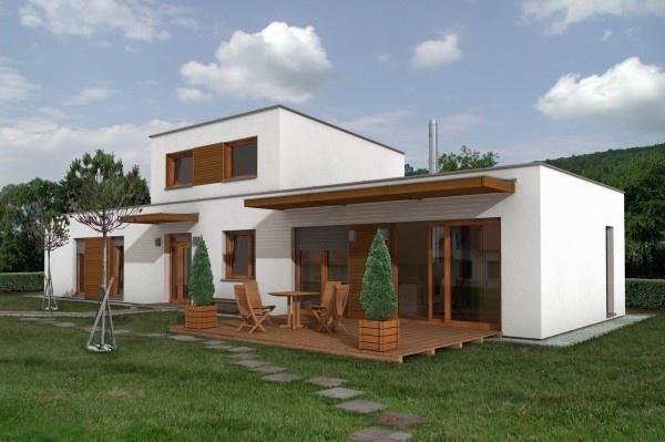 projekty domov s plochou strechou